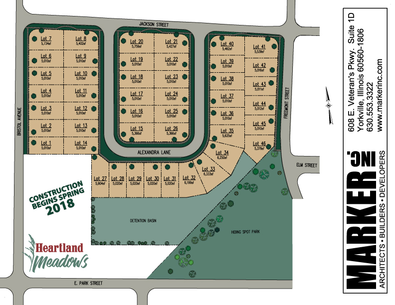 Heartland Meadows Homesites In Yorkville Il Marker Inc
